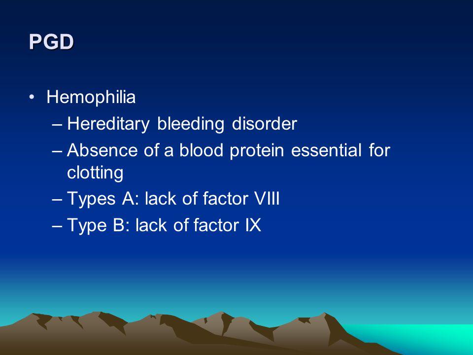 PGD Hemophilia Hereditary bleeding disorder