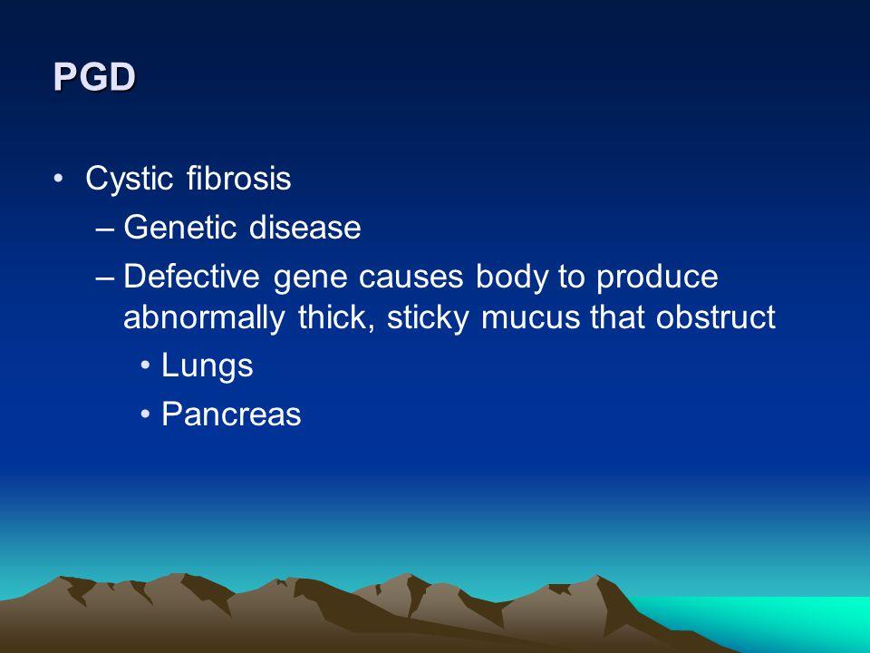 PGD Cystic fibrosis Genetic disease