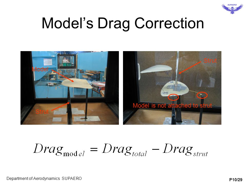Model's Drag Correction