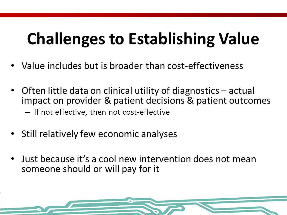 Challenges to Establishing Value