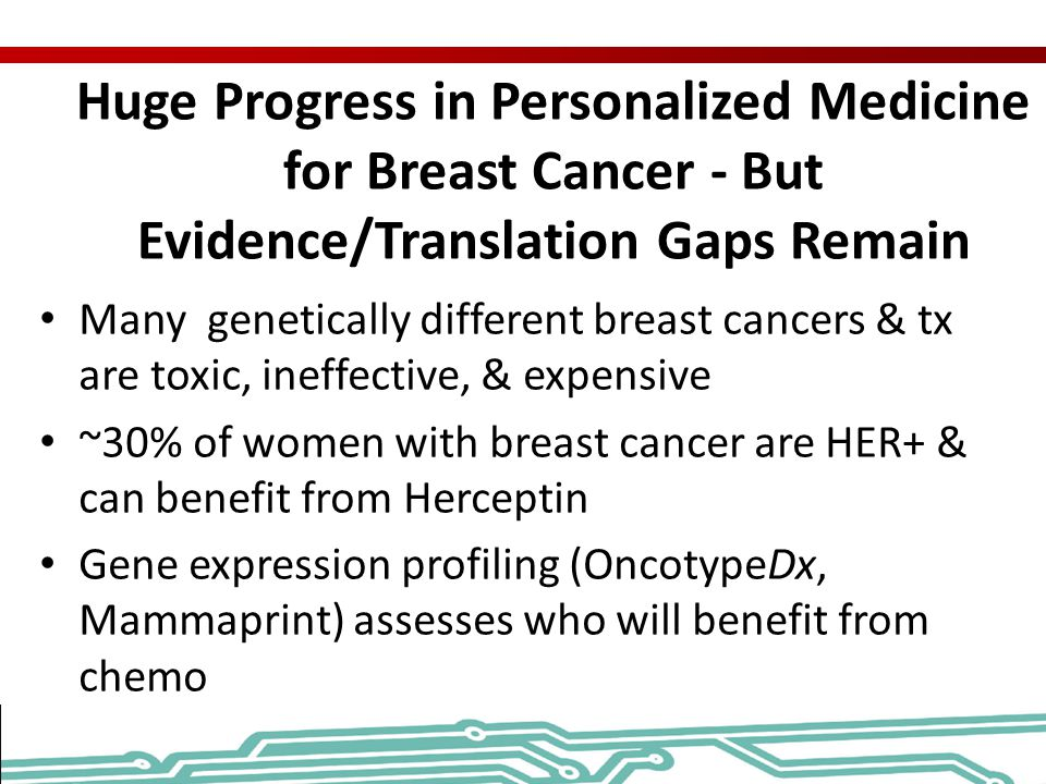 Huge Progress in Personalized Medicine for Breast Cancer - But Evidence/Translation Gaps Remain
