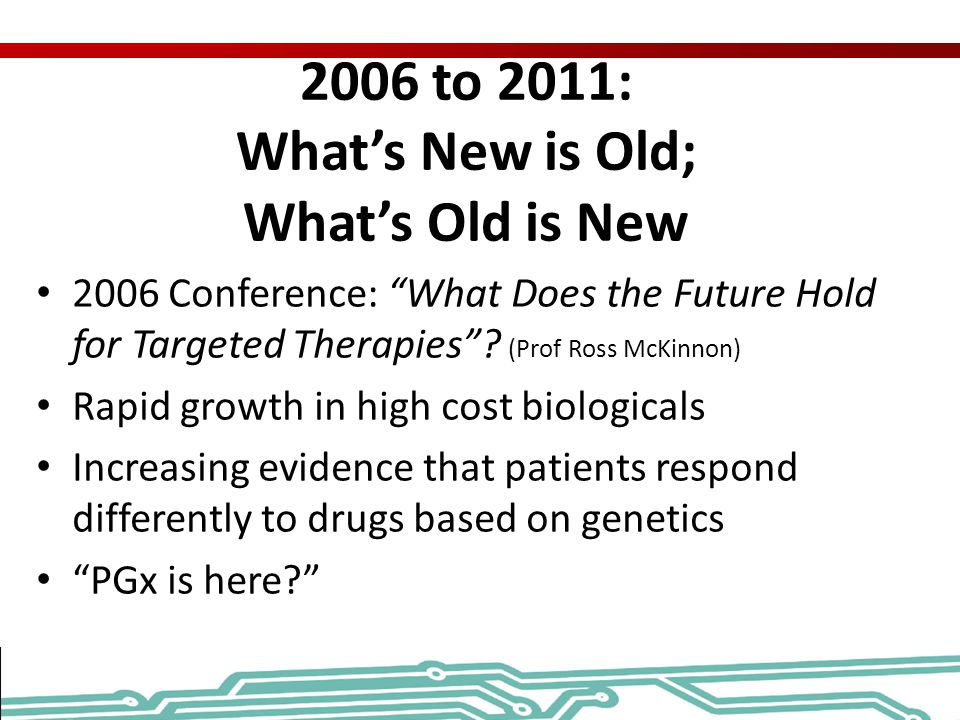2006 to 2011: What's New is Old; What's Old is New