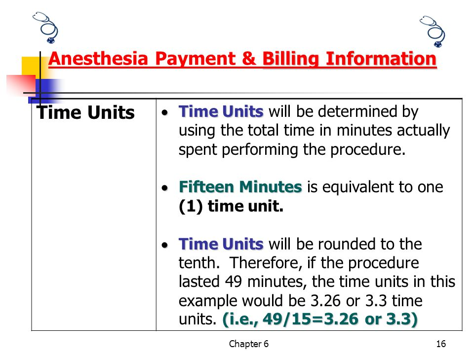 Anesthesia Payment & Billing Information
