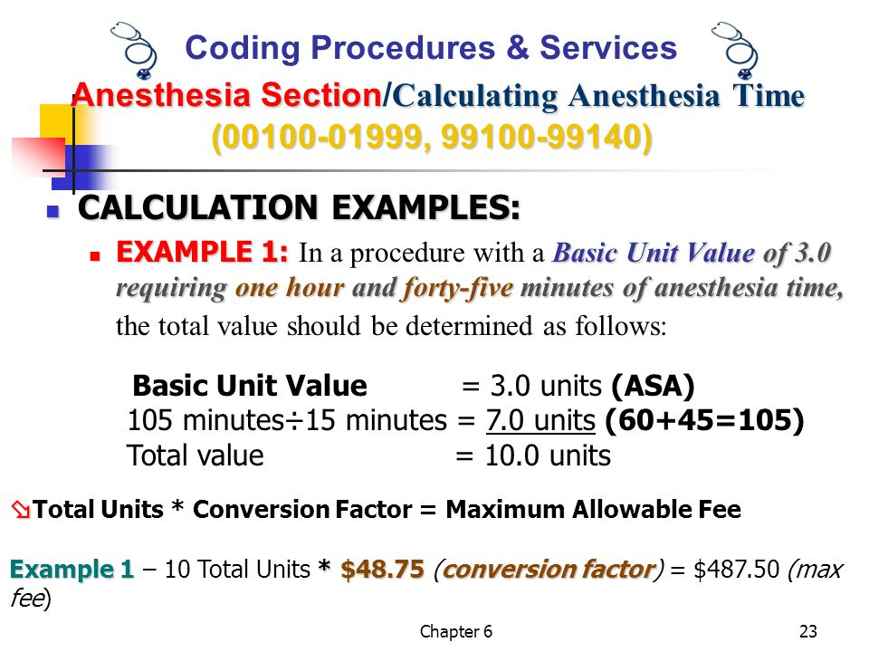 CALCULATION EXAMPLES: