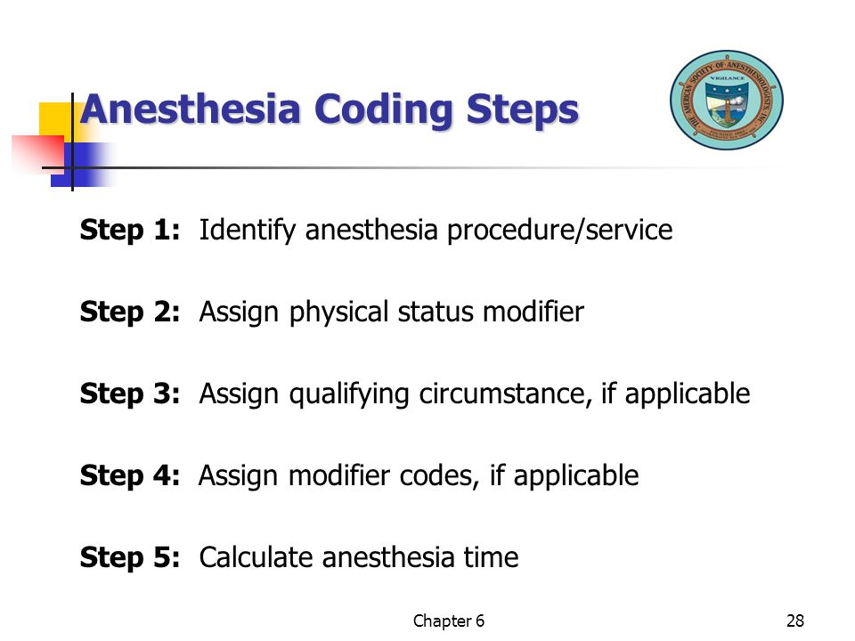 Anesthesia Coding Steps