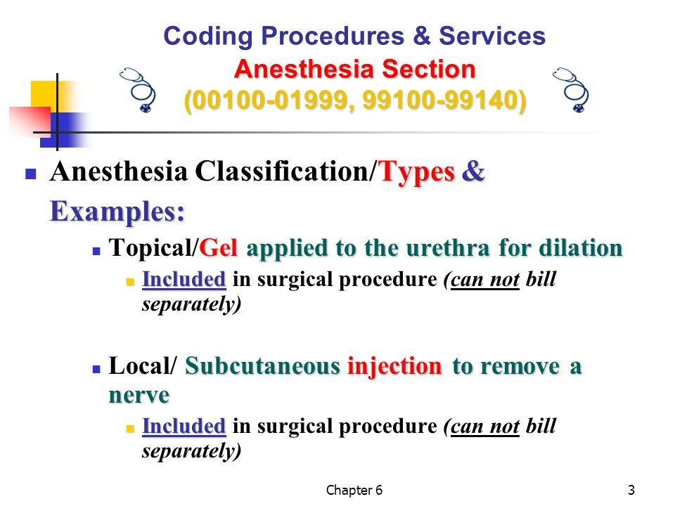 Anesthesia Classification/Types & Examples: