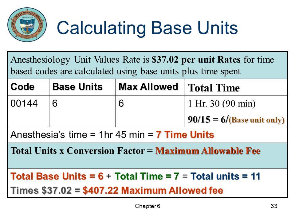Calculating Base Units