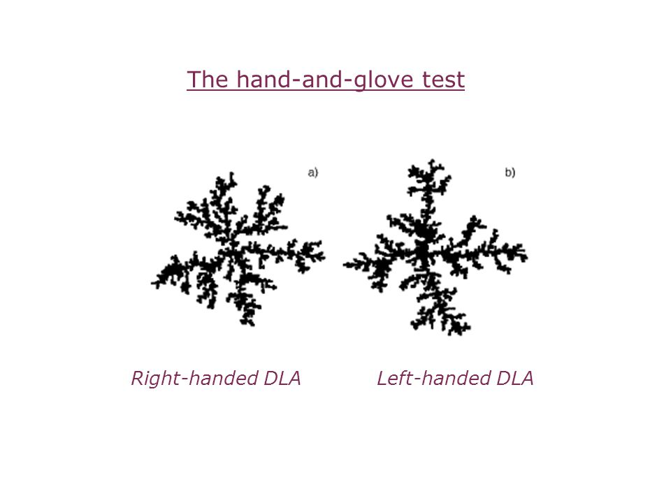 The hand-and-glove test