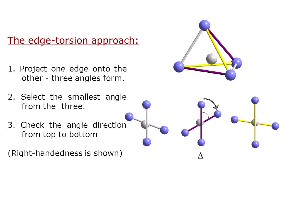 The edge-torsion approach: