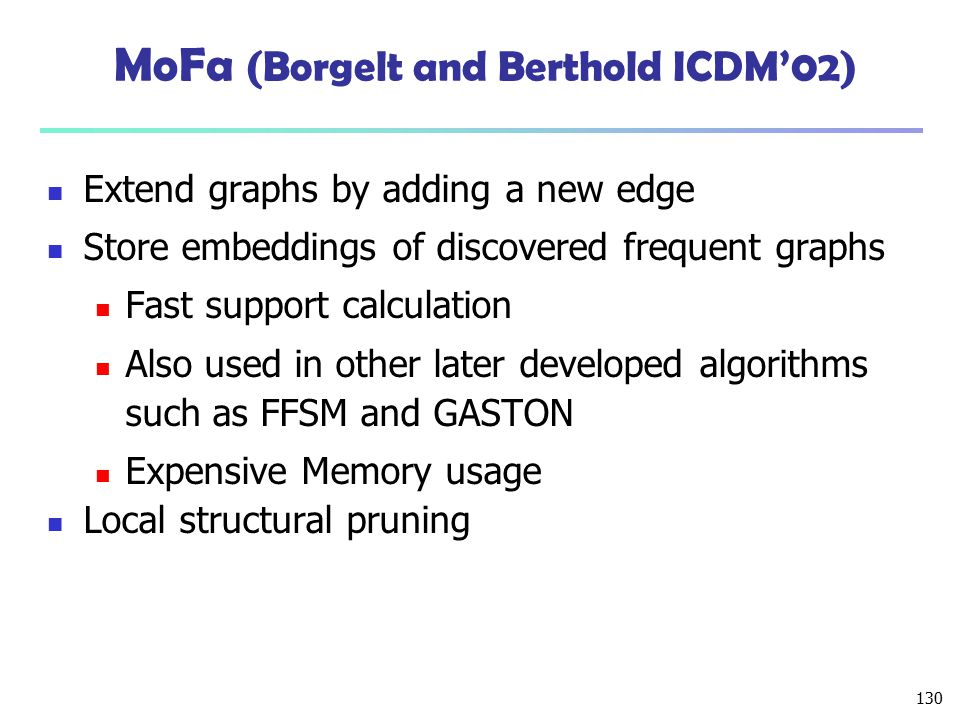 MoFa (Borgelt and Berthold ICDM'02)