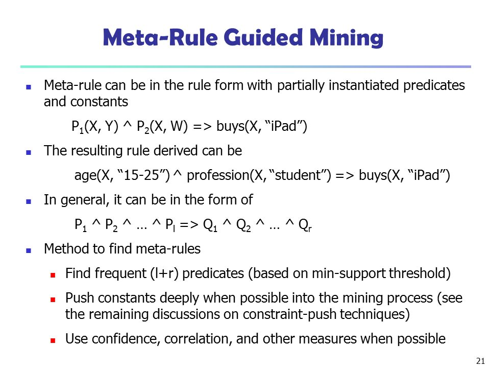 Meta-Rule Guided Mining