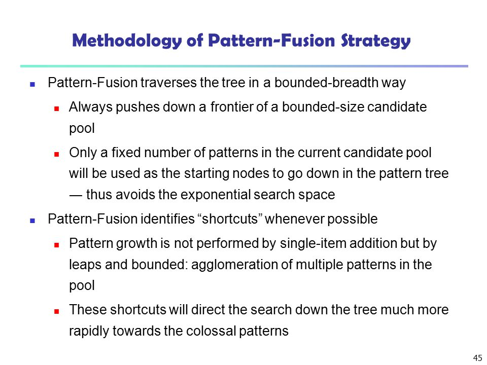 Methodology of Pattern-Fusion Strategy