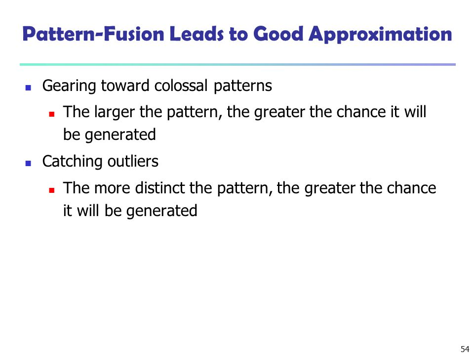 Pattern-Fusion Leads to Good Approximation