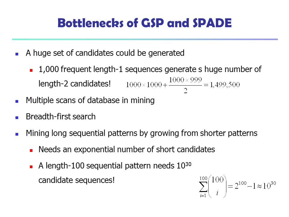 Bottlenecks of GSP and SPADE