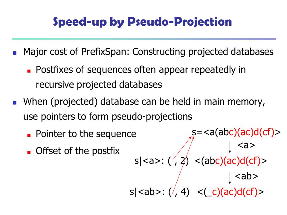 Speed-up by Pseudo-Projection