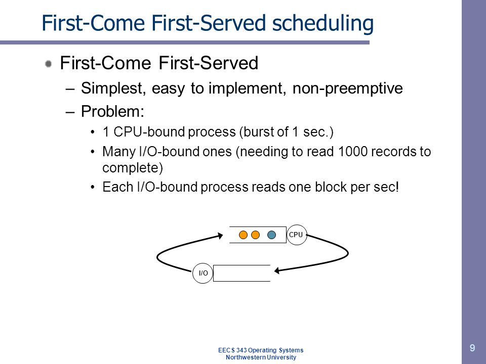 First-Come First-Served scheduling