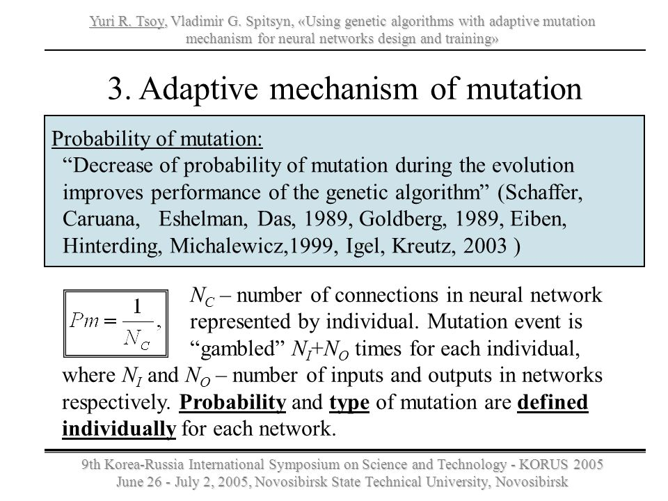 3. Adaptive mechanism of mutation