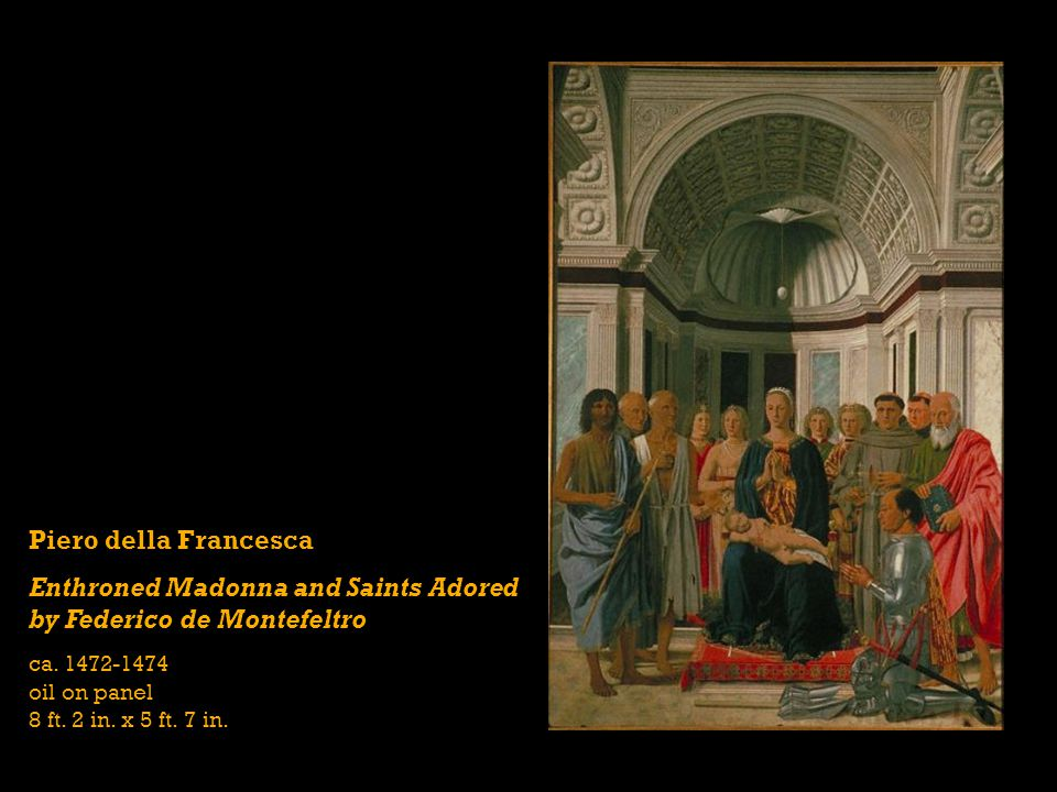 Enthroned Madonna and Saints Adored by Federico de Montefeltro