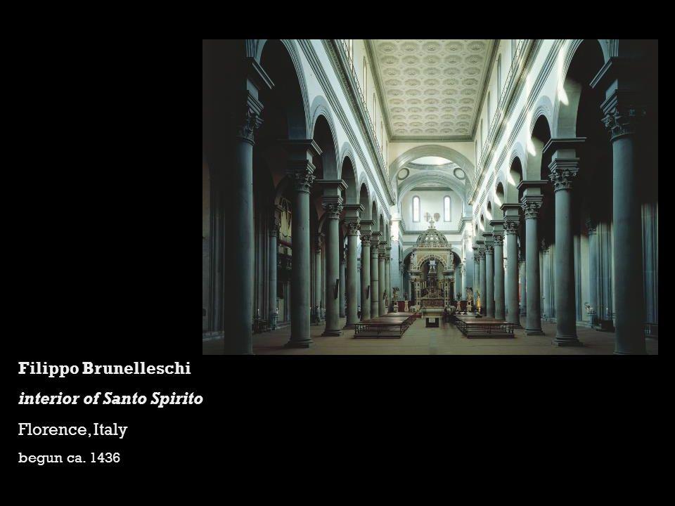 interior of Santo Spirito Florence, Italy