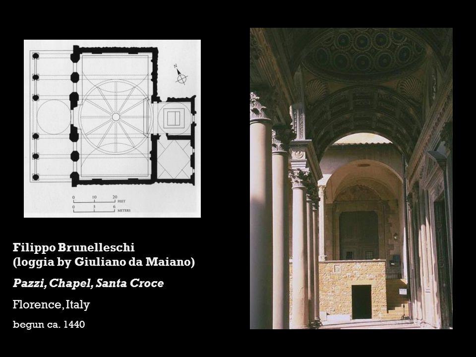 Filippo Brunelleschi (loggia by Giuliano da Maiano)