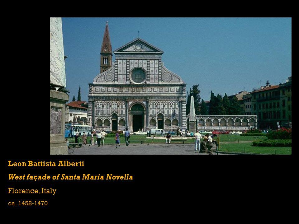 West façade of Santa Maria Novella Florence, Italy