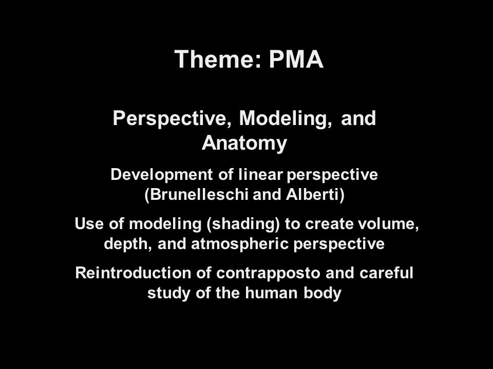 Theme: PMA Perspective, Modeling, and Anatomy
