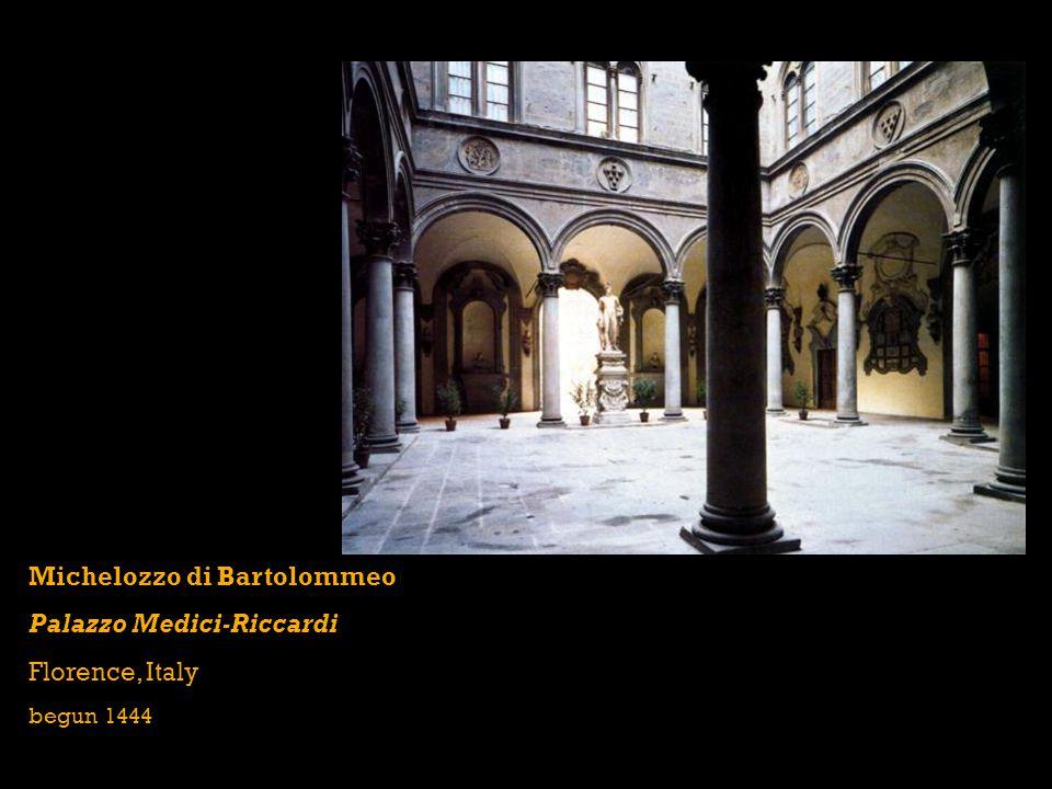 Michelozzo di Bartolommeo Palazzo Medici-Riccardi Florence, Italy