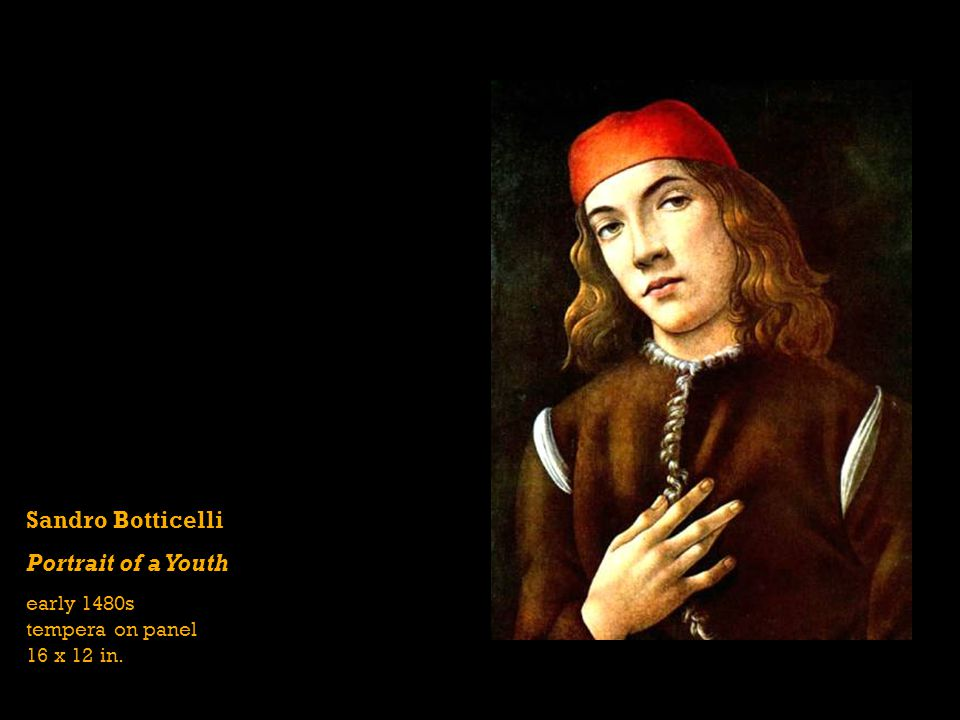 Sandro Botticelli Portrait of a Youth