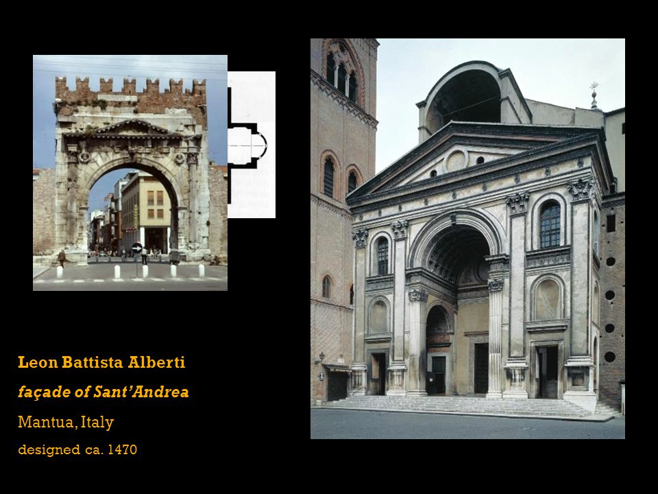 Leon Battista Alberti façade of Sant'Andrea Mantua, Italy