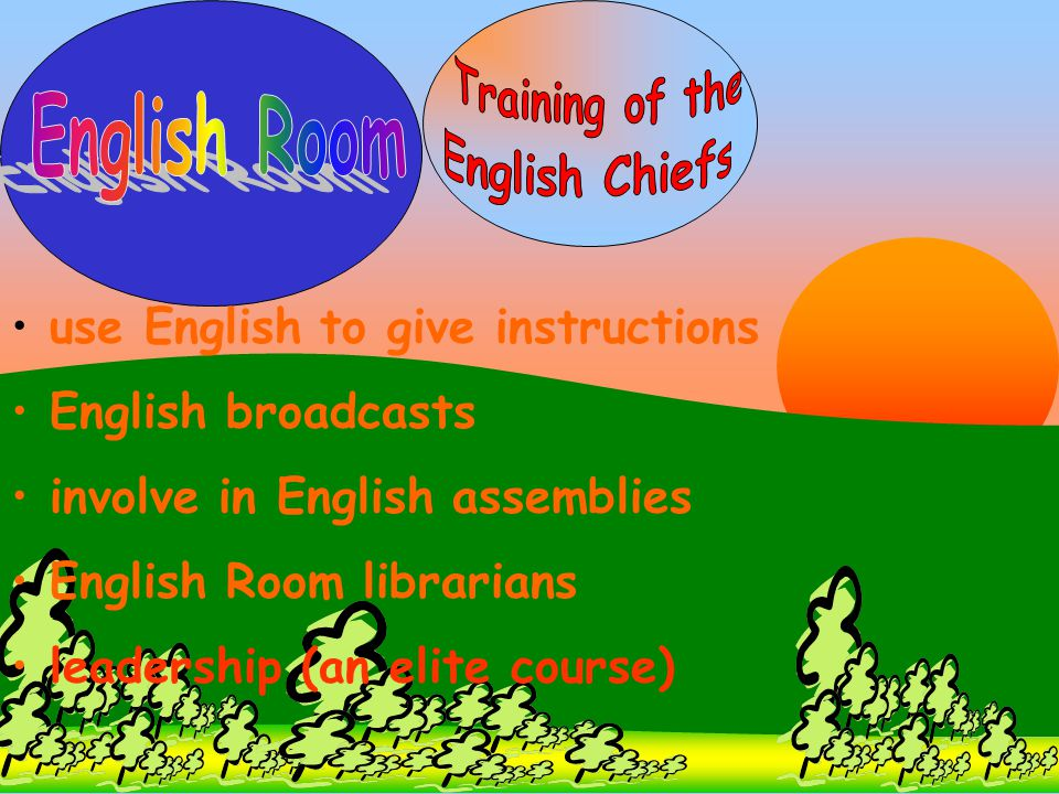 Training of the English Room English Chiefs