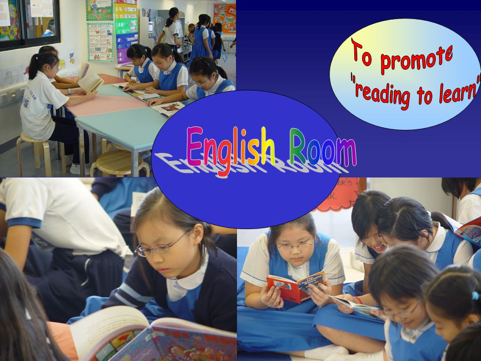 To promote reading to learn English Room