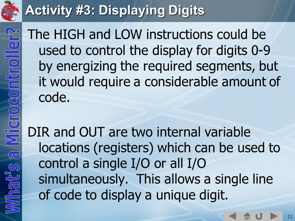 Activity #3: Displaying Digits