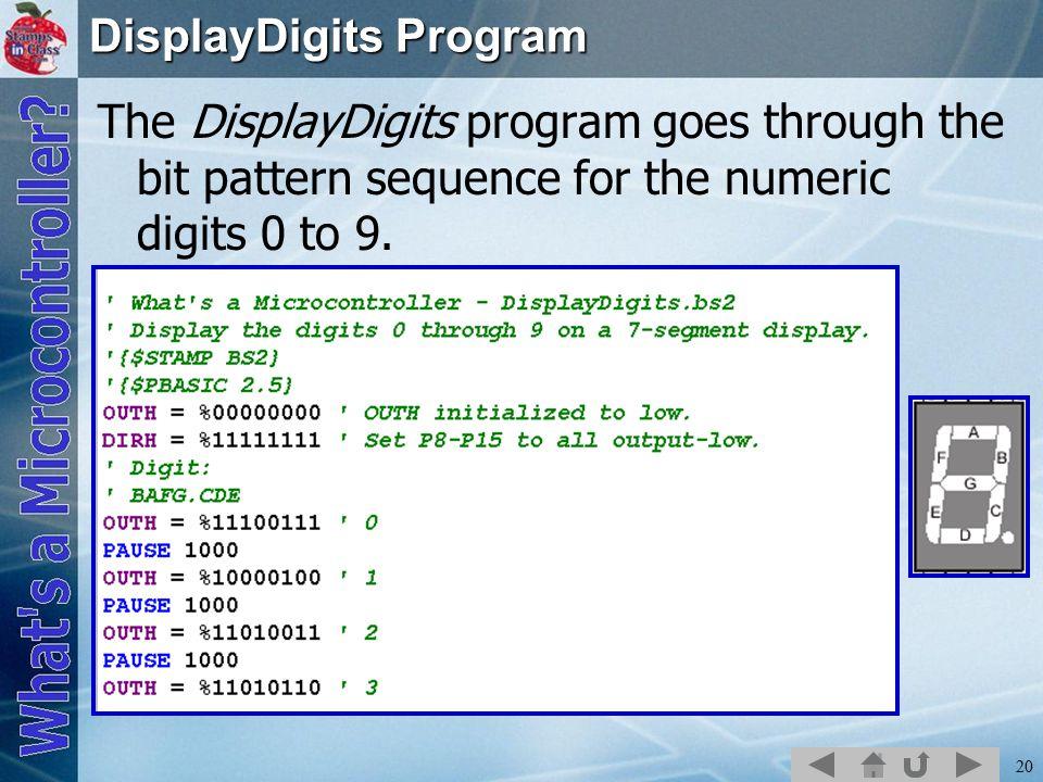 DisplayDigits Program