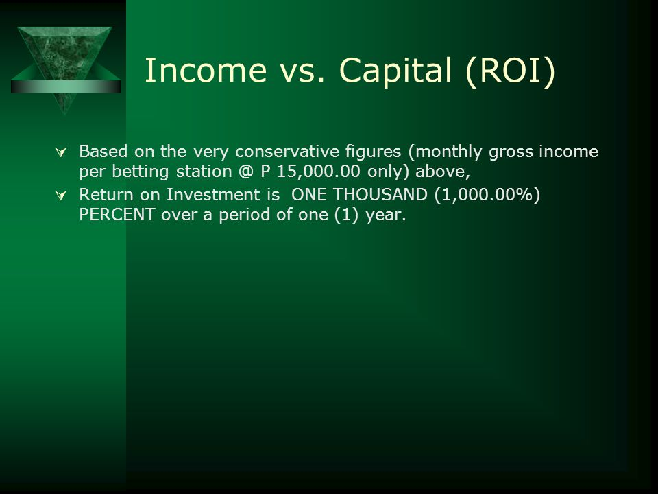 Income vs. Capital (ROI)