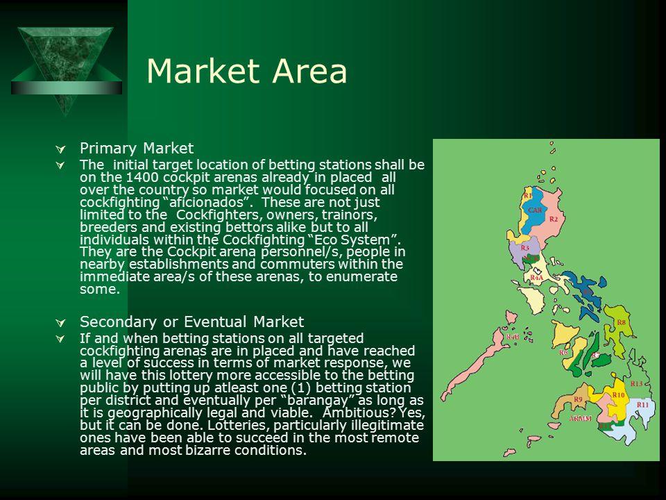 Market Area Primary Market Secondary or Eventual Market