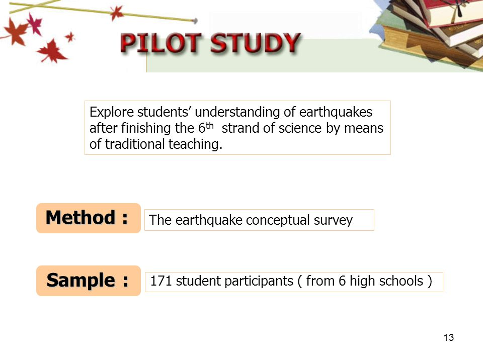 Explore students' understanding of earthquakes after finishing the 6th strand of science by means of traditional teaching.