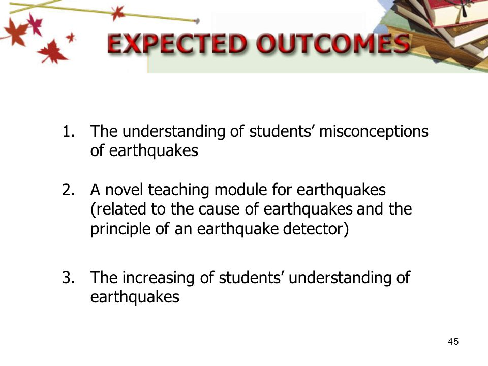 The understanding of students' misconceptions of earthquakes