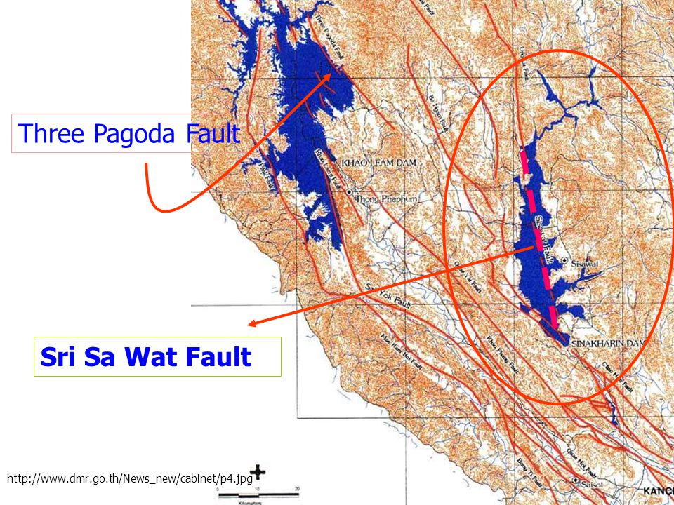 Three Pagoda Fault Sri Sa Wat Fault