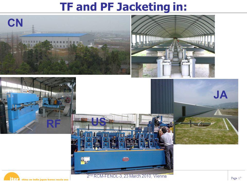 TF and PF Jacketing in: CN JA US RF