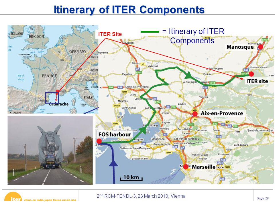 Itinerary of ITER Components