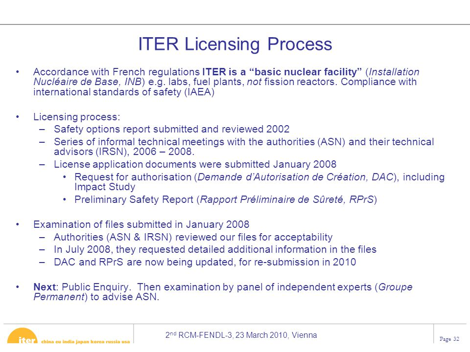 ITER Licensing Process