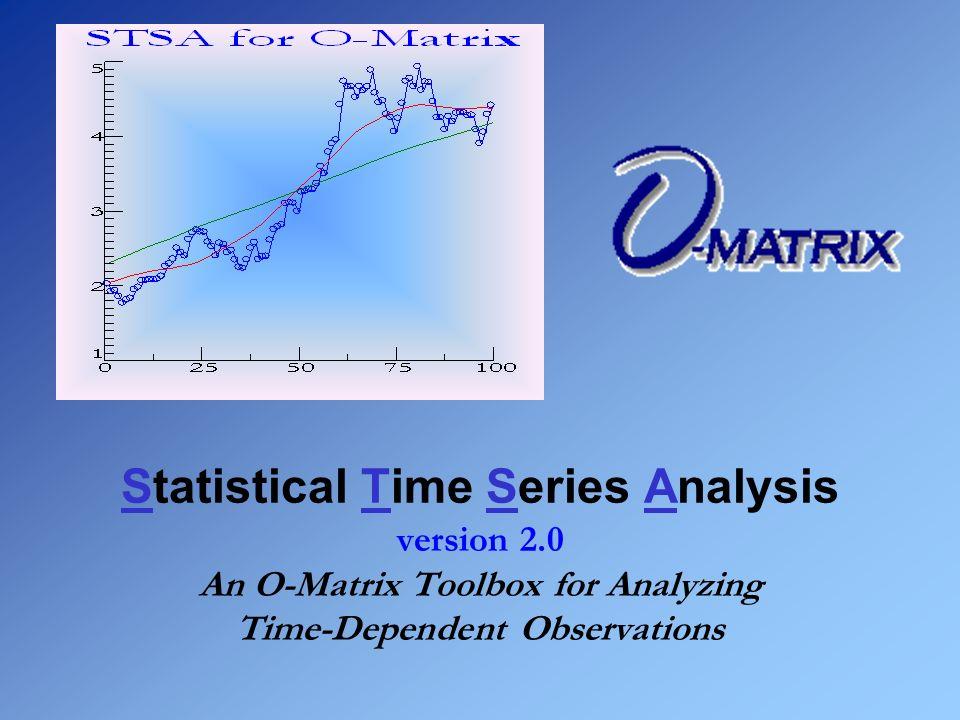 Statistical Time Series Analysis version 2