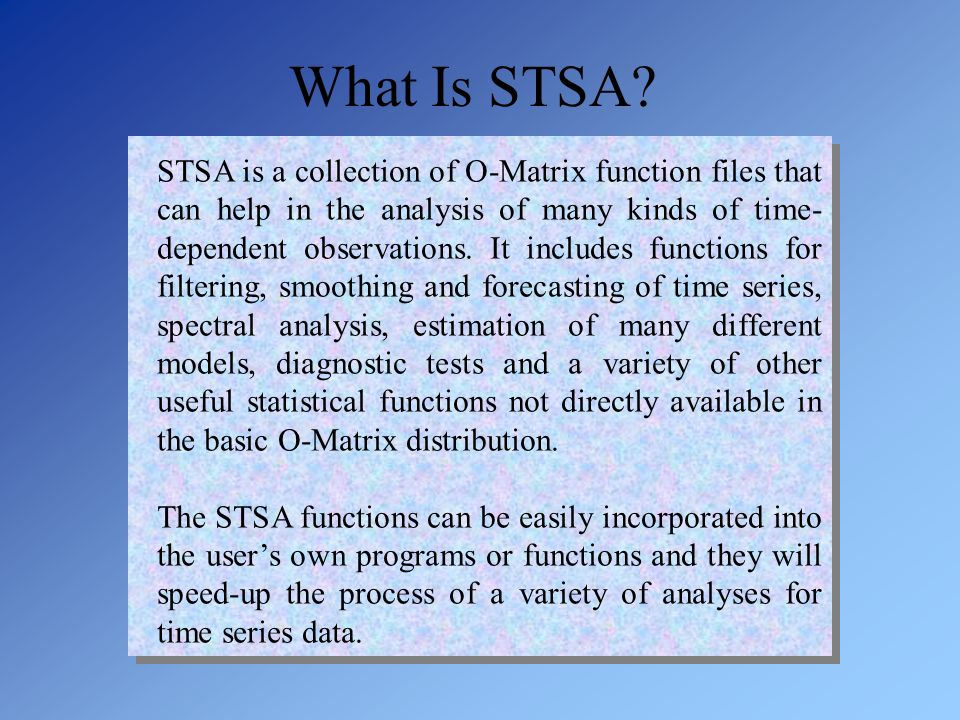 What Is STSA