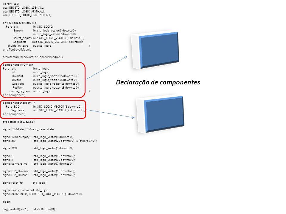 Declaração de componentes