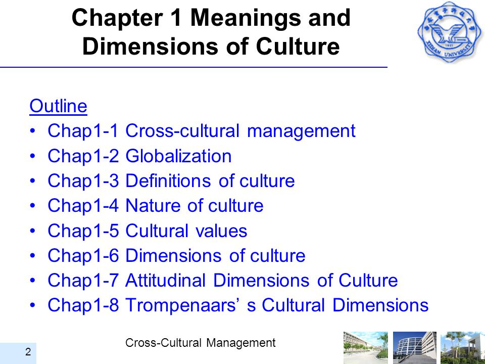 Chapter 1 Meanings and Dimensions of Culture