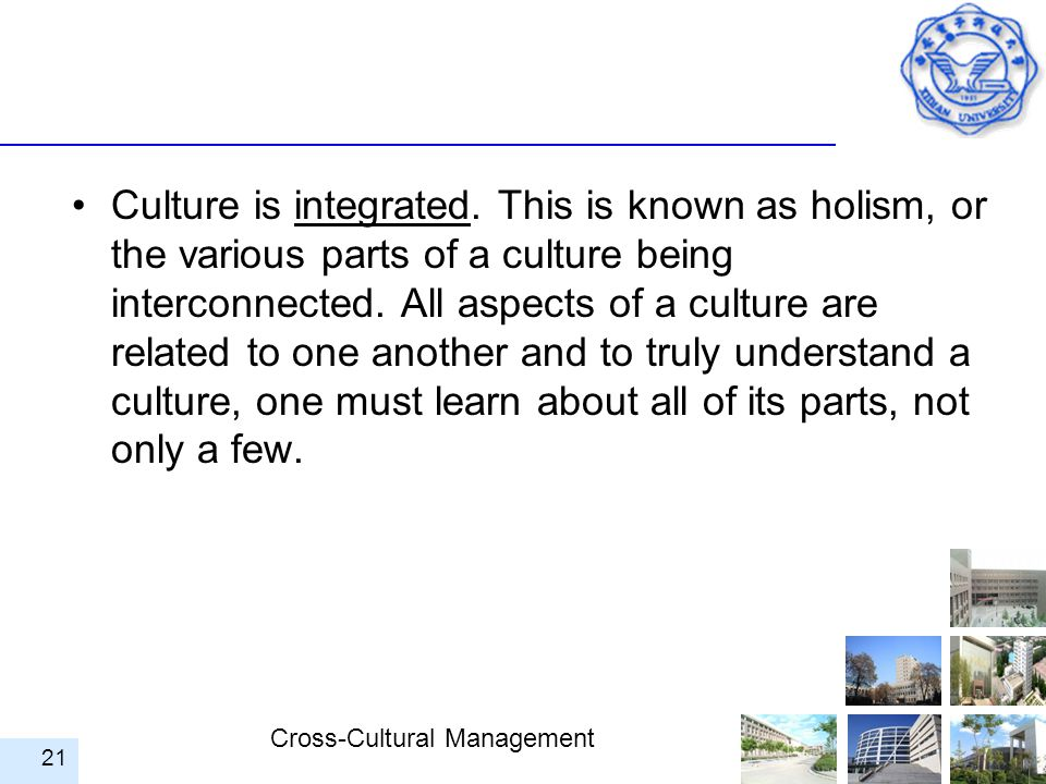 Culture is integrated.