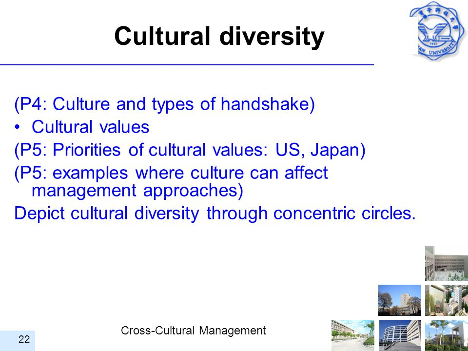 Cultural diversity (P4: Culture and types of handshake)