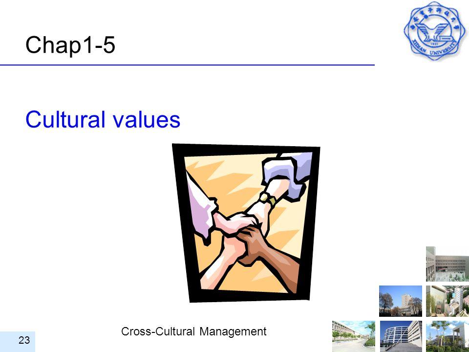 Chap1-5 Cultural values
