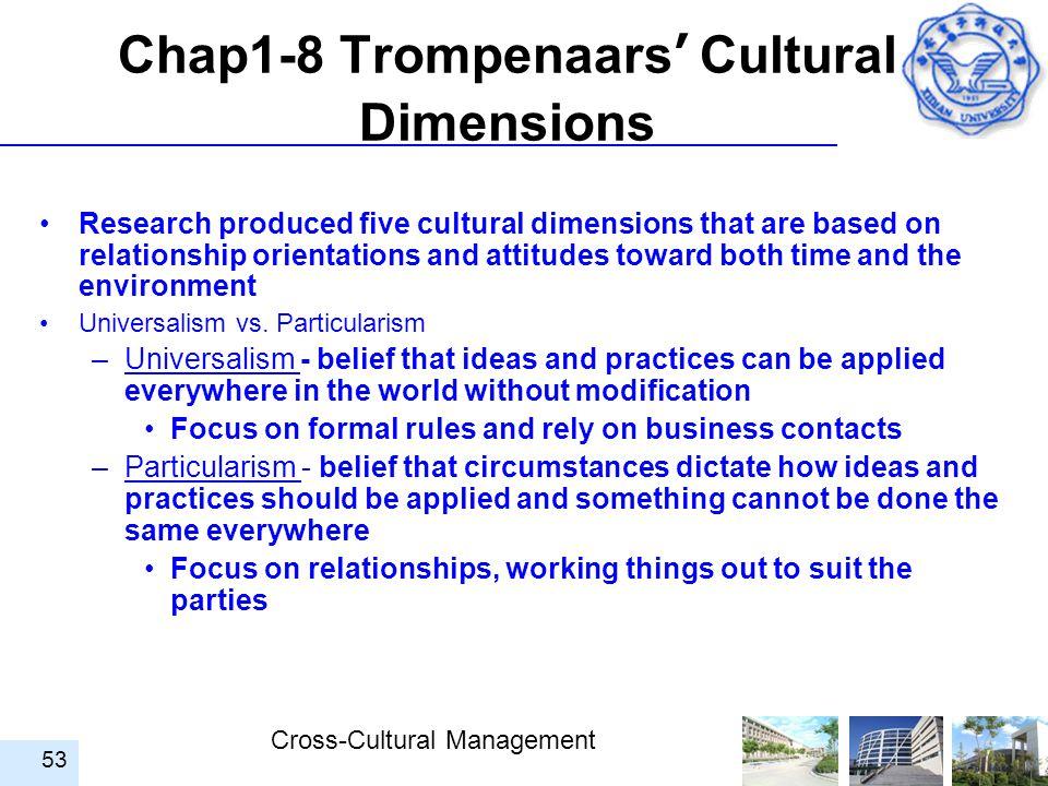 Chap1-8 Trompenaars' Cultural Dimensions