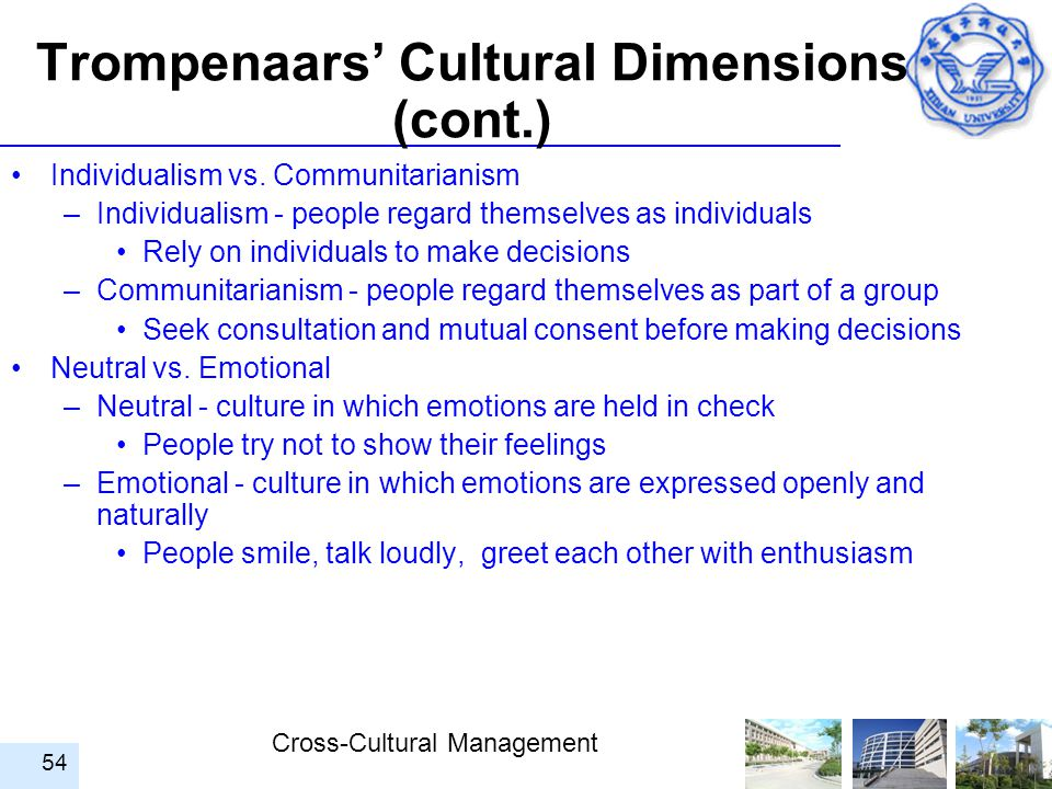 trompenaars cultural dimensions of germany If you have ever walked into an office and thought to yourself, this feels really different, you are familiar with the diversity of corporate cultures dr fons trompenaars brought us a great model for quickly describing and categorizing these differences in his four types of corporate culture model.